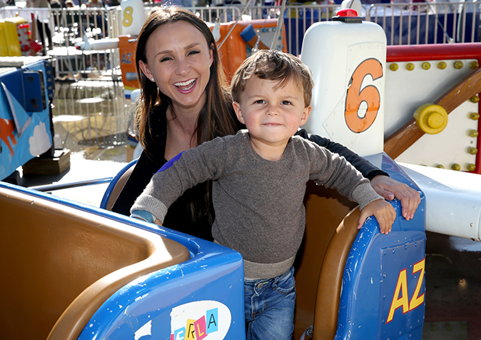 Georgina Bloomberg and son Jasper (Photo by Cindy Ord/Getty Images for GOOD+ Foundation)