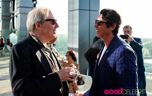 Michael McKean and Lou Diamond Phillips at the 4th Annual Ed Asner and Friends Poker Tournament and Celebrity Casino Night on Saturday (August 6).