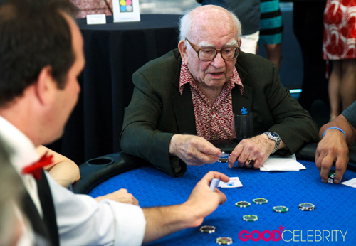 Ed Asner at his 4th Annual Ed Asner and Friends Poker Tournament and Celebrity Casino Night on Saturday (August 6).